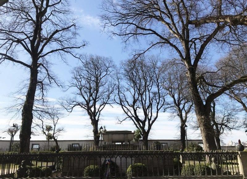 Tumba de Sir John Moore en el jardínde San Carlos de A Coruña