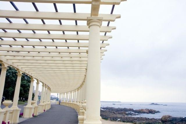 Detalle del paseo marítimo de La Foz, en Oporto