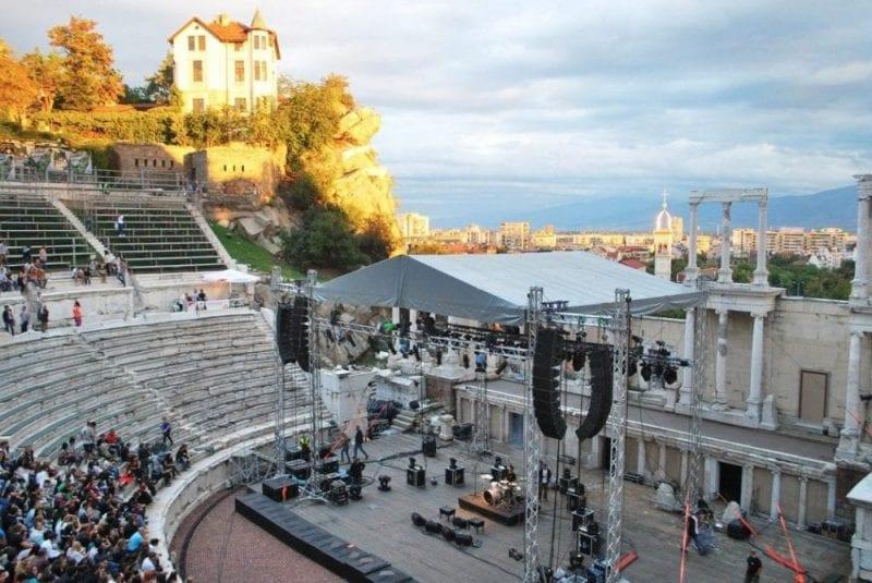 El anfiteatro de Plovdiv escenario de actos culturales