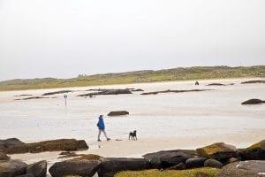 Omey Island con marea baja