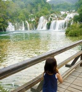 Los saltos de agua se suceden uno tras otro en Krka