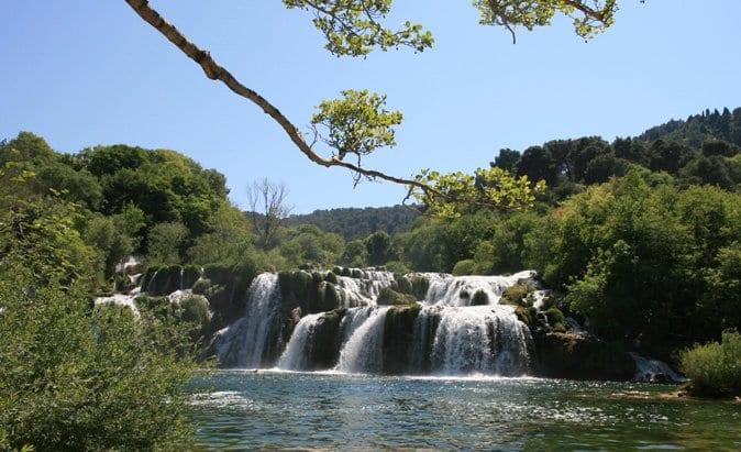 Panorámica de las cataratas de Krka