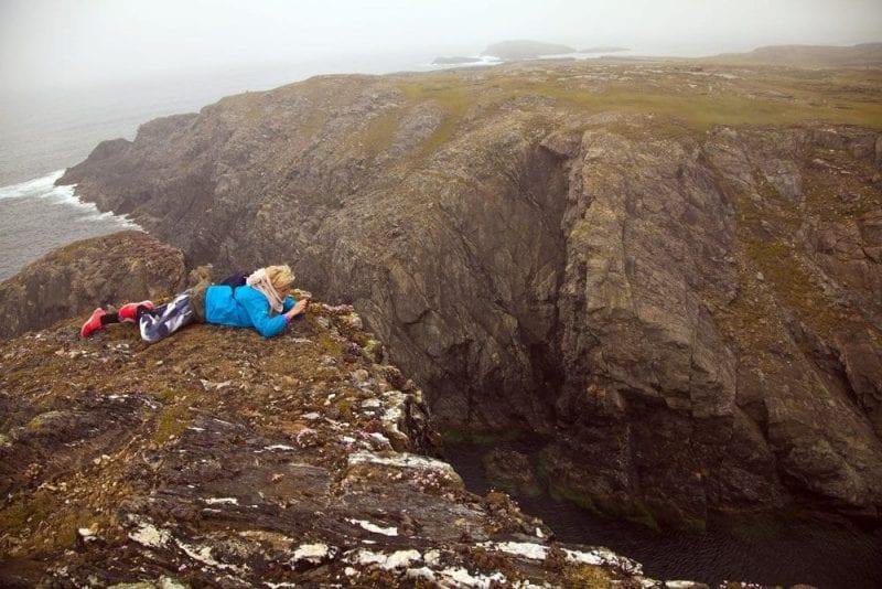 Los acantilados de Inishbofin son espectaculares