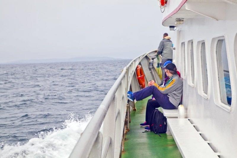 El ferry tarda 30 minutos en llegar a Inishbofin
