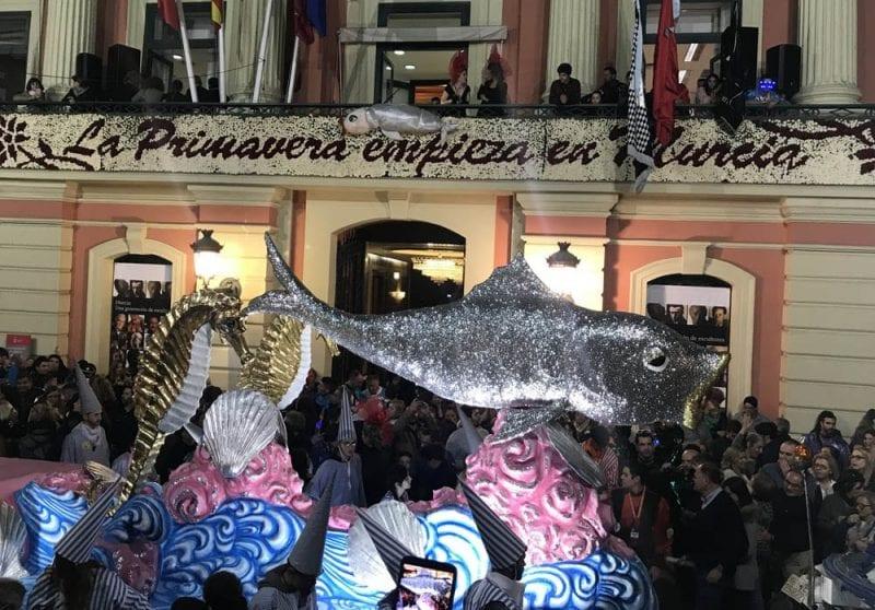 El testamento de la sardina se lee en el Ayuntamiento de Murcia