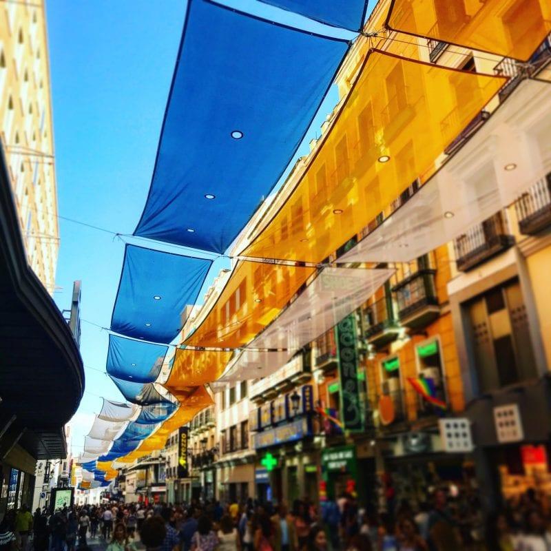 La calle Preciados, típica para ir de compras