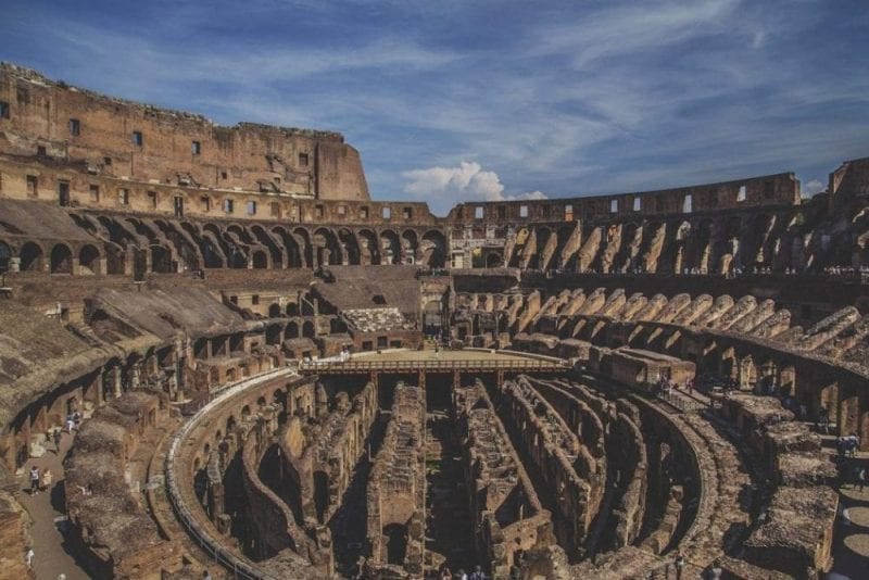 Detalle del interior del Coliseo