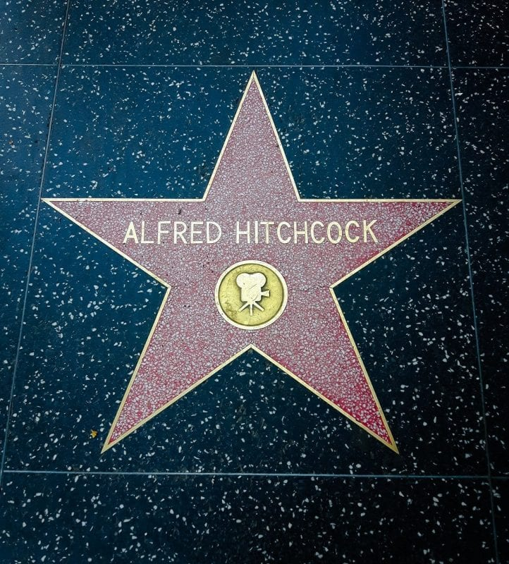 La estrella de Hitchcock está en el 6506 de Hollywood Blvd