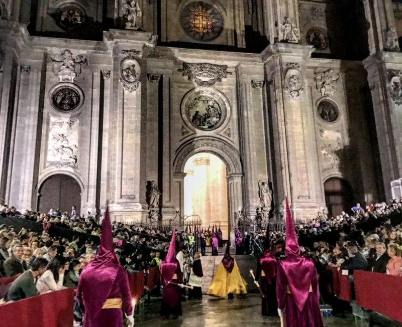 Catedral de Granada en Semana Santa