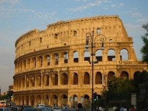 Vista del Coliseo, uno de los emblemas de Roma
