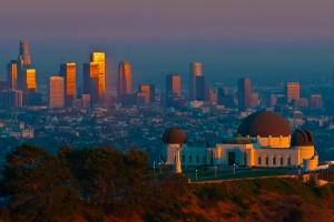 Vistas de Los Ángeles desde el observatorio