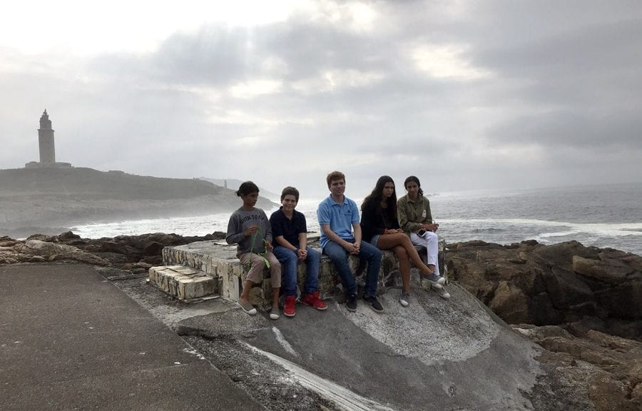 Vistas de la Torre de Hércules en Coruña