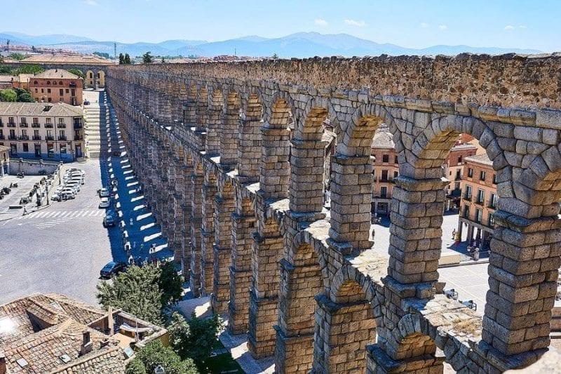 Panorámica del Acueducto de Segovia