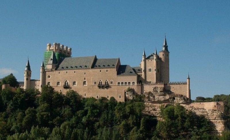 Panorámica del Alcázar de Segovia