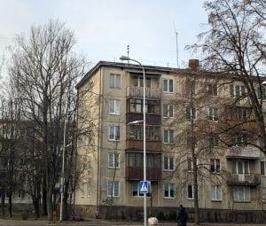 Rincón con huella soviética en Vilnius
