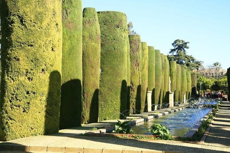Detalle de los jardines del Alcazar de Córdoba
