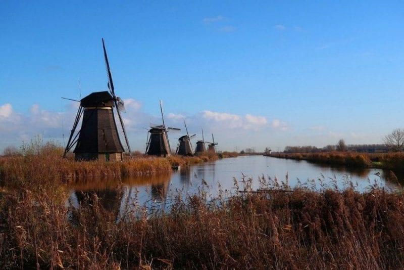 Los molinos, construcción típica de Holanda