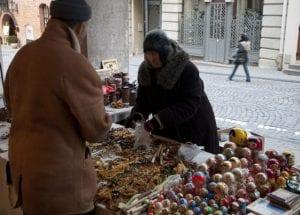 Puesto de recuerdos soviéticos en la calle Pilies