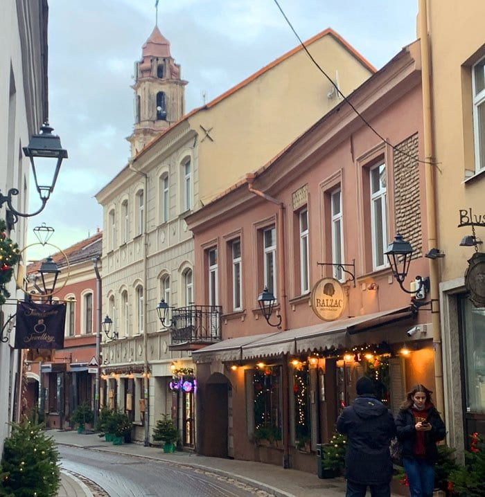 El casco histórico de Vilnius está lleno de iglesias