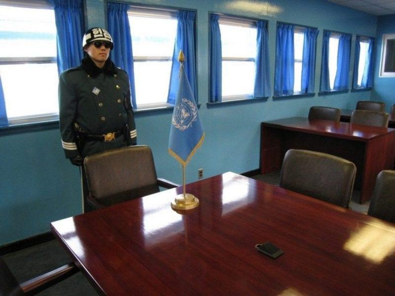 Sala de conferencias en la zona desmilitarizada de Corea