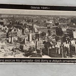 Imagen de Gdnask tras los bombardeos de 1945