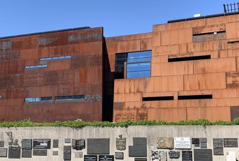 Fachada del Centro Europeo de Solidaridad en Gdansk