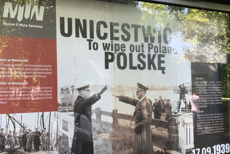 Foto histórica de Hitler en Westerplatte