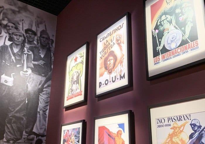 Zona dedicada a España en el museo de la IIGM en Gdansk