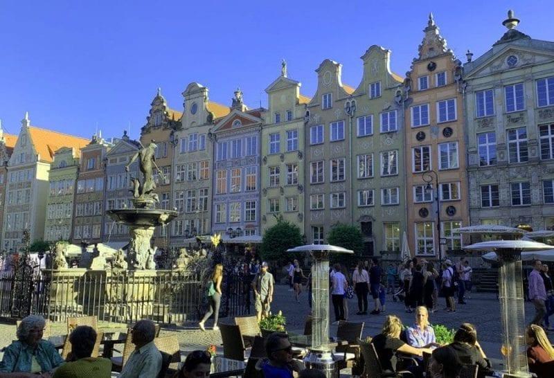 Plaza del mercado de Gdansk