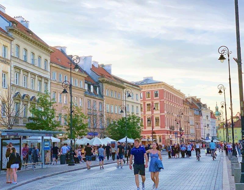 Vista de la Krakowskie Przedmiescie