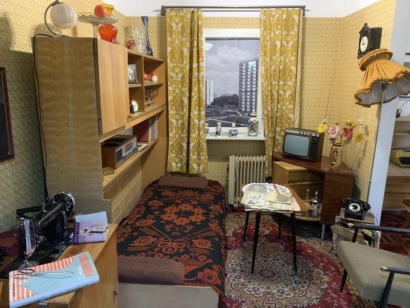 Recreación de una vivienda en años de la Guerra Fría