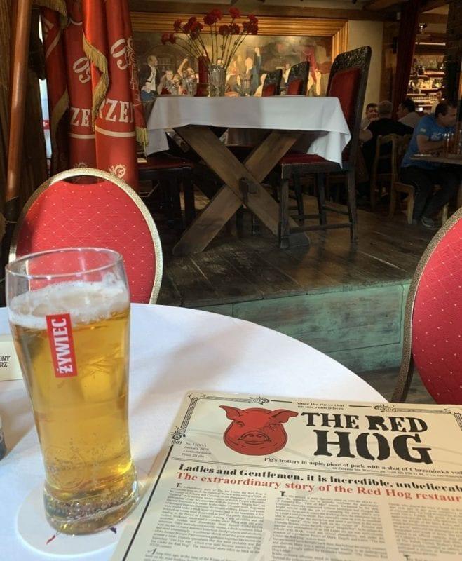 La taberna del Cerdo Rojo, imprescindible en Varsovia