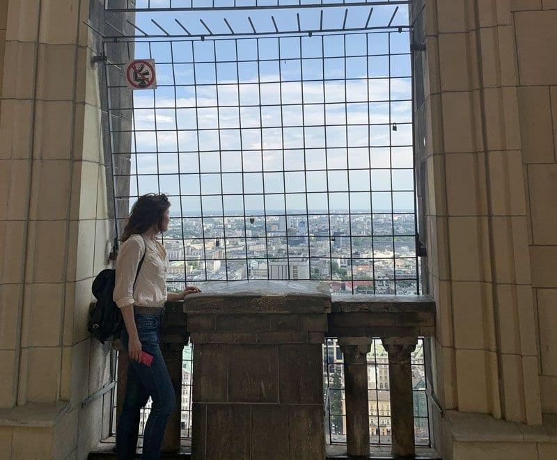 Vistas de Varsovia desde la terraza de la torre PKIN