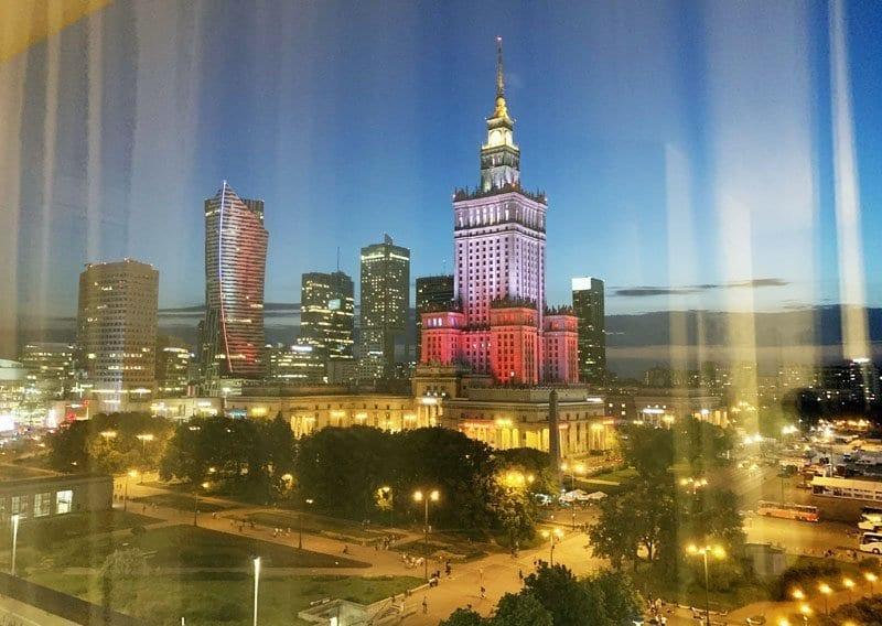Vistas de Varsovia desde el hotel Metropol