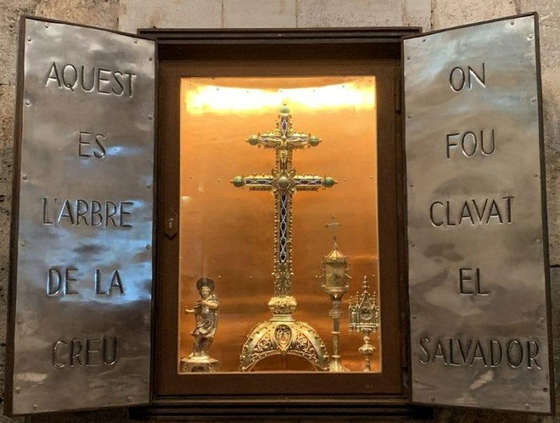 Reliquia de la Vera Cruz en Besalú
