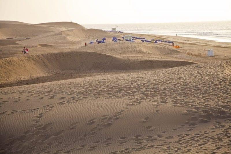 Detalle de las dunas de Maspalomas