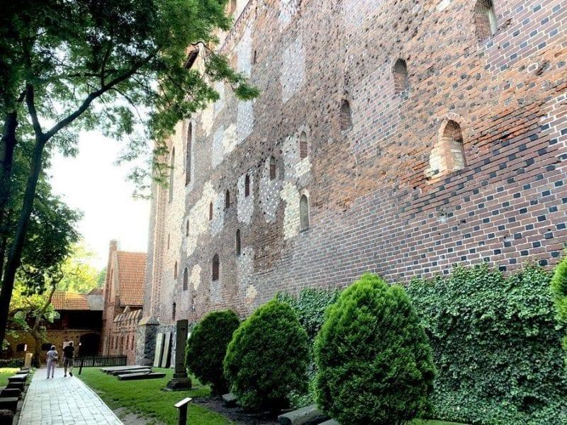 Rincón de los jardines del castillo