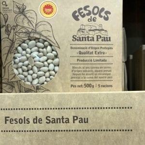 Los fesols de Santa Pau se venden para viajeros