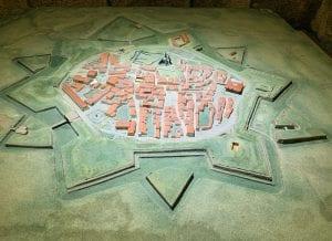 Maqueta de la fortaleza de Almeida