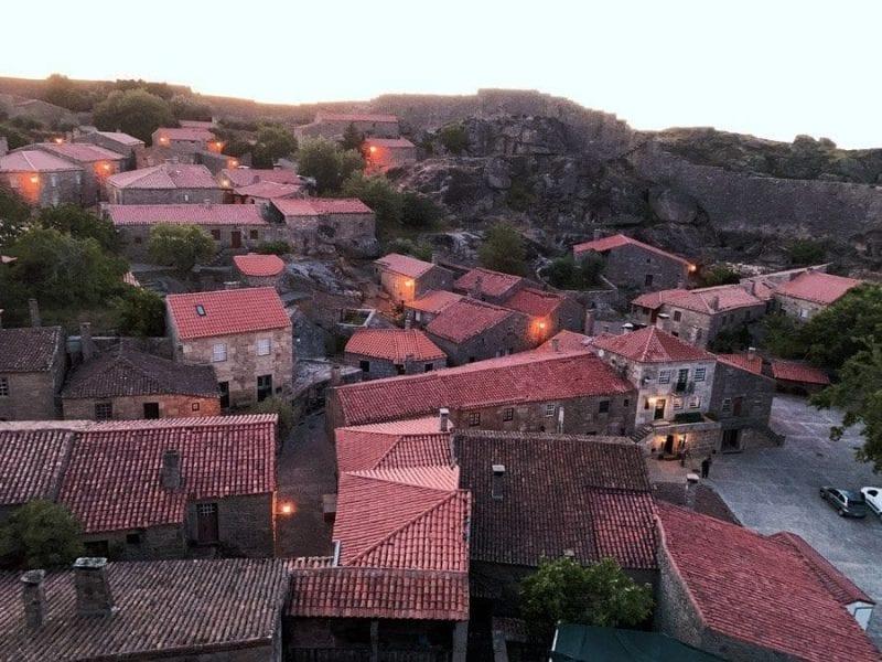 Vista de Sortelha desde el castillo