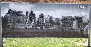 Ruinas del castillo de Malbork tras los bombardeos de 1945