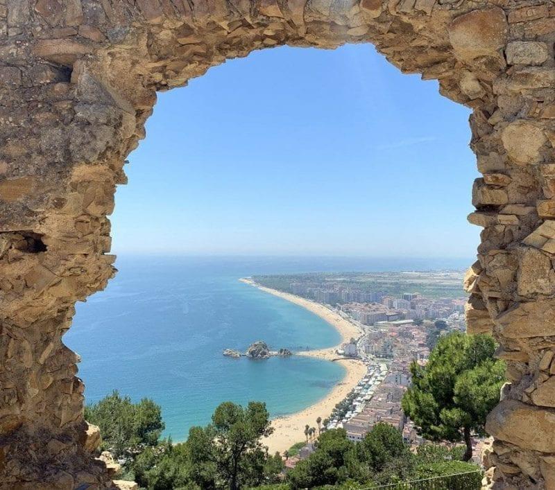 Panorámica de Blanes desde el castillo