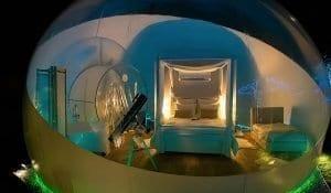 Detalle del interior de una de las burbujas de Albarari