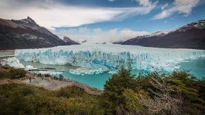 Vistas del glaciar Perito Moreno desde uno de los miradores cercanos