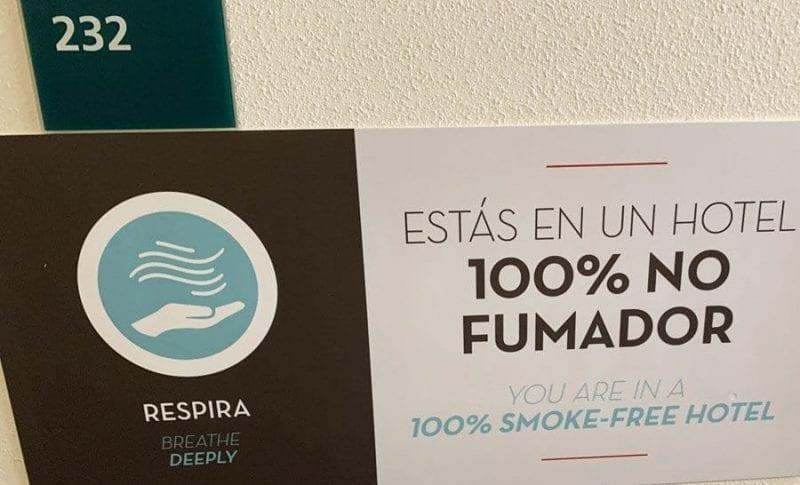 Cada ves hay más hoteles libres de humos