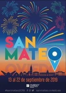 Cartel de las fiestas de San Mateo en Oviedo del 2019