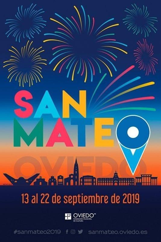 Cartel de las fiestas de San Mateo en Oviedo 2019