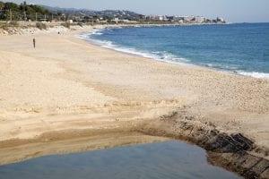 Imagen de la playa de Mataró