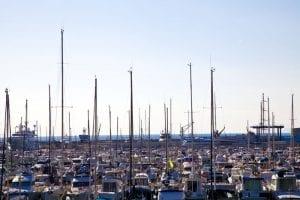 Panorámica del puerto deportivo de Mataró