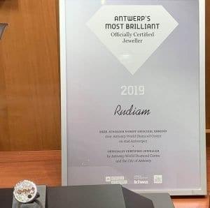 Certificado de garantía para joyerías de Amberes